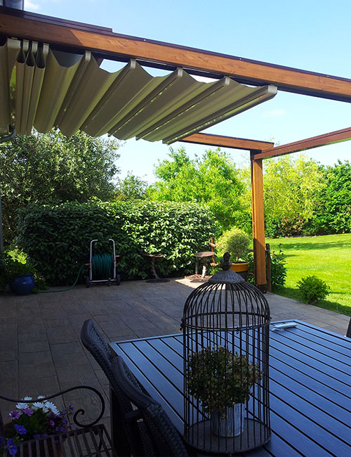 pergola a toile retractable maison 2