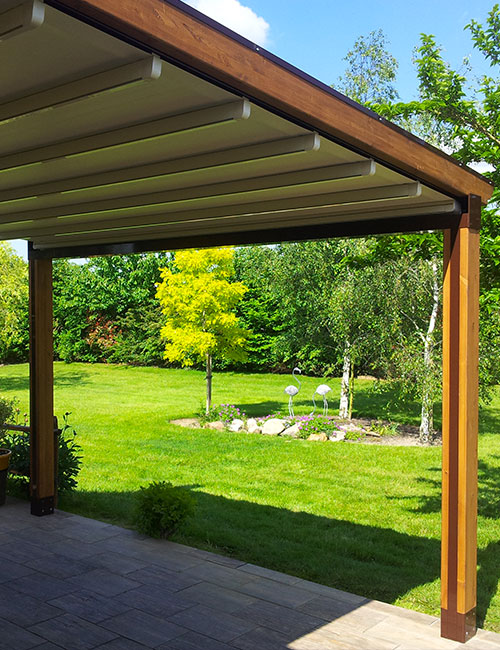 pergola a toile retractable maison